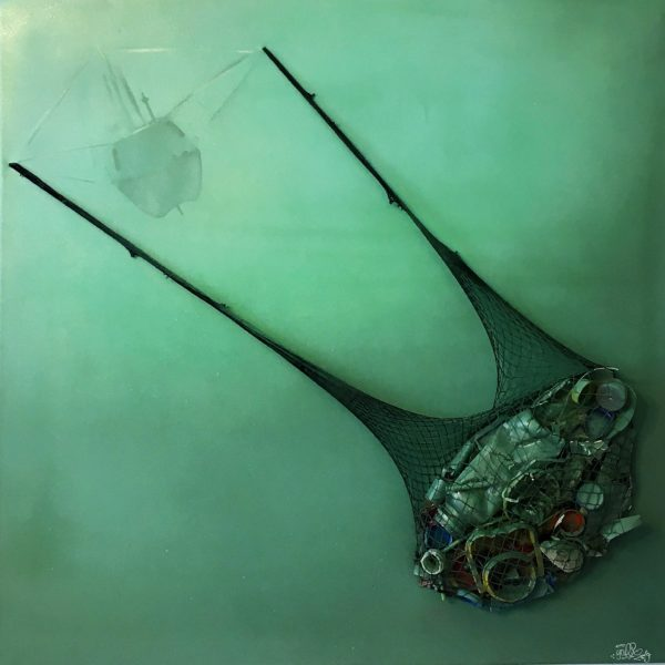 Überfischt Leinwand